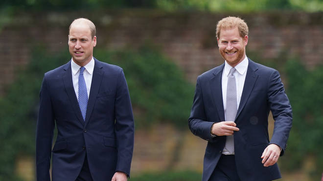 Harry and William were reunited for the unveiling