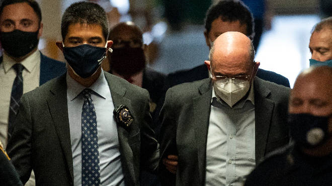 Allen Weisselberg was pictured being led to court in handcuffs