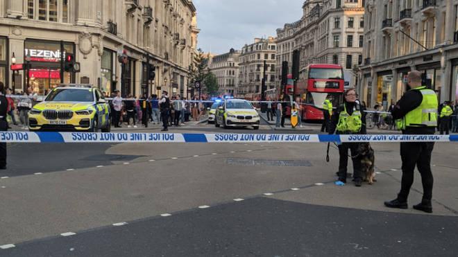 A major police presence has been seen in Oxford Circus