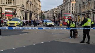 A large police presence has been seen in Oxford Circus
