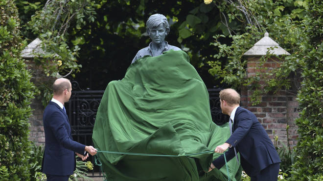 The statue was unveiled in the garden of Kensington Palace