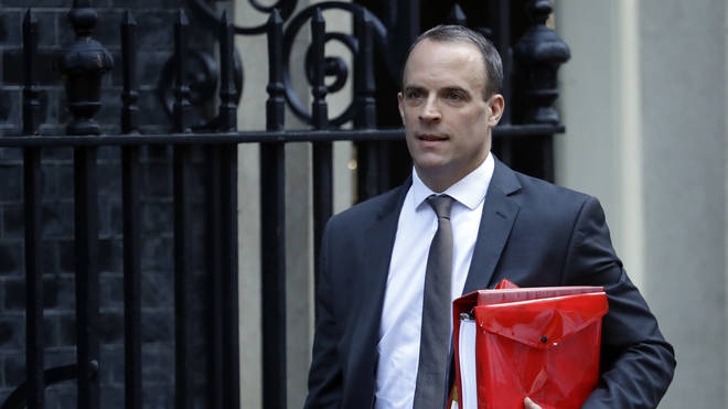 Dominic Raab, before his resignation