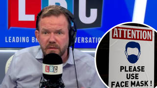 James O'Brien clashes with caller who 'has an issue' with face masks