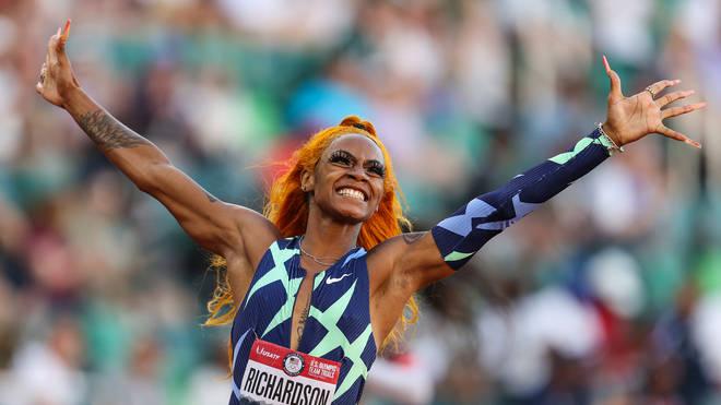 Sha'Carri Richardson at the 2020 U.S. Olympic Track & Field Team Trials on June 19