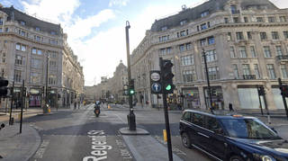 The stabbing took place at Oxford Circus