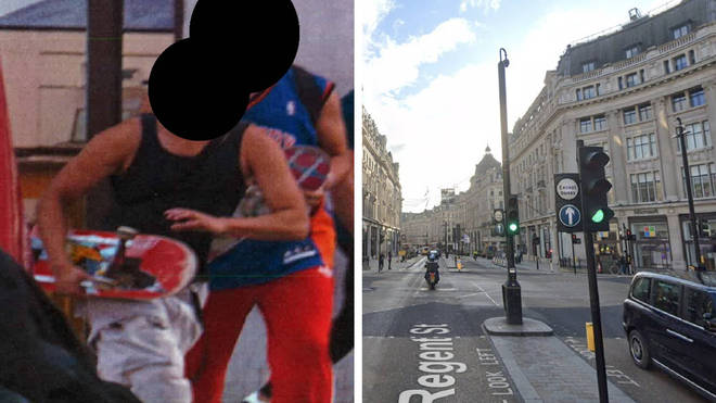 Police have asked a pair of skateboarders to come forward