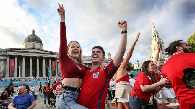 England fans were jubilant after the Three Lions' victory over Ukraine on Saturday