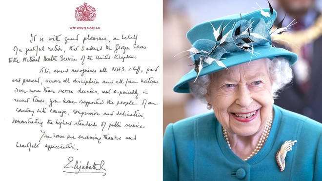 The Queen has awarded the George Cross to the National Health Services of the UK, recognising all NHS staff in all four nations