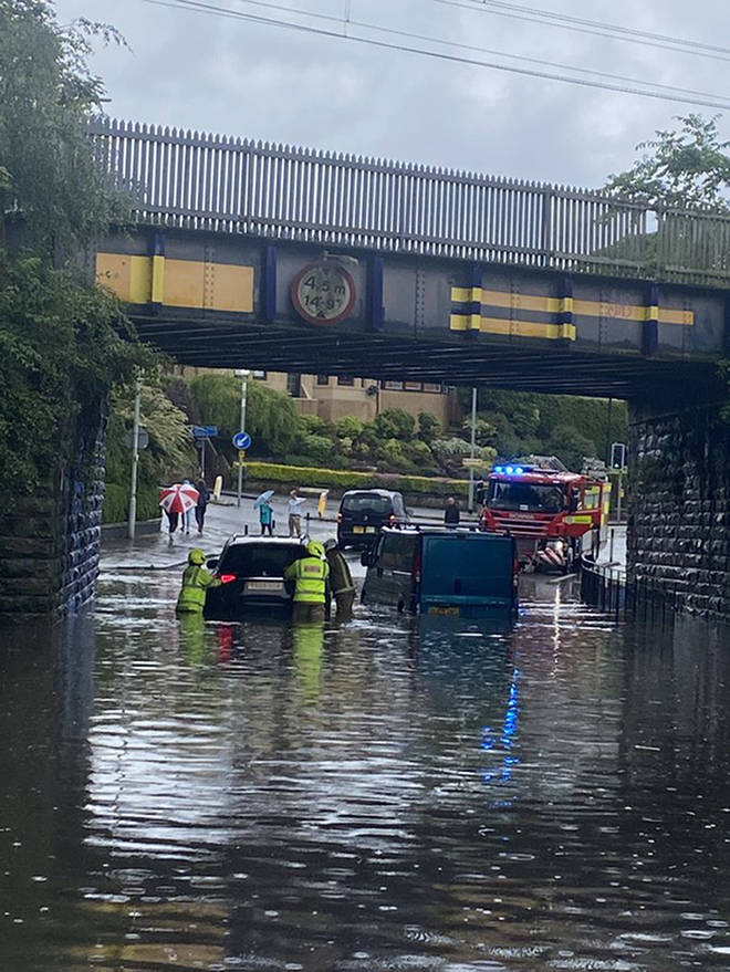 Flash flooding caused some drivers to become stranded