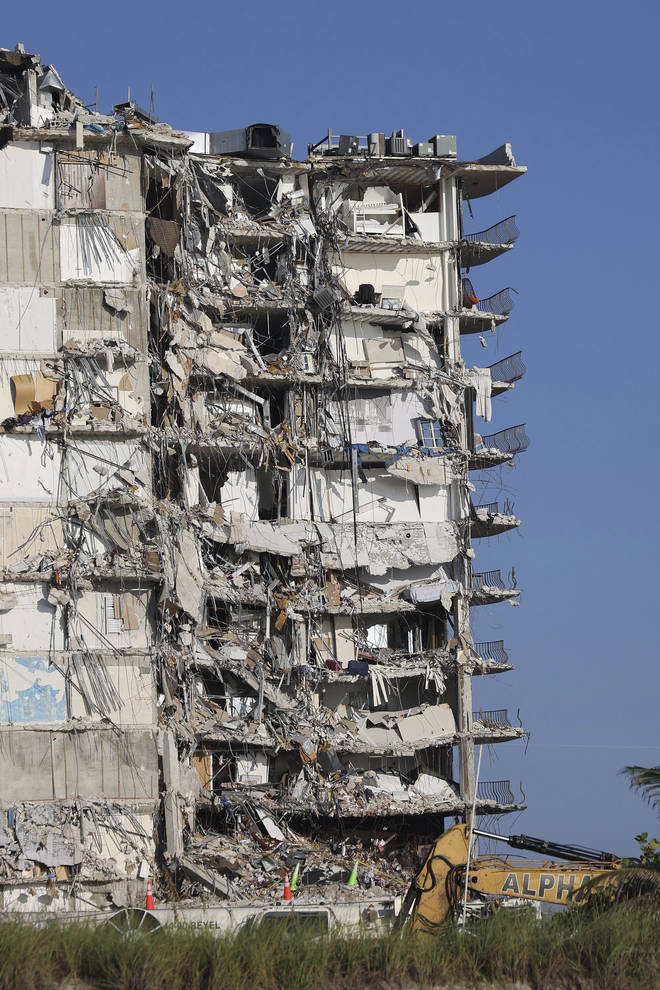 There were concerns that the remainder of the building was posing a risk to rescuers.