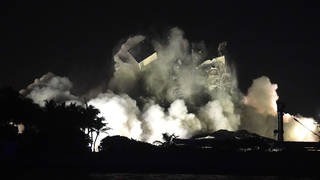 The remainder of the South Florida Miami building was demolished on Sunday evening.