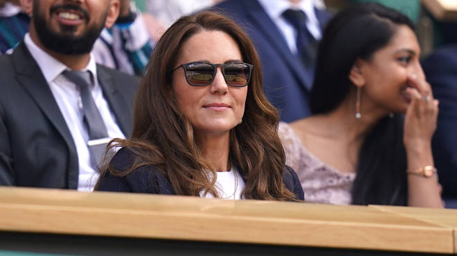 The Duchess is self-isolating. She was pictured at Wimbledon last week