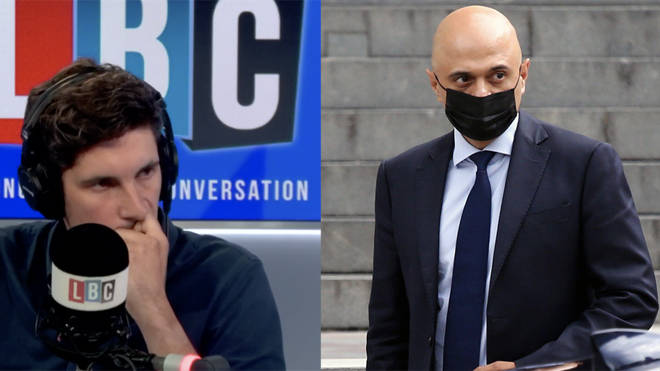 """Sajid Javid told LBC he will keep wearing a mask as it is """"responsible"""" to do so"""