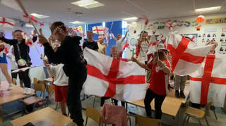 Kids from the Primary School filmed the video ahead of the Euros