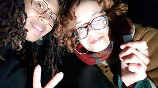Bibaa Henry and Nicole Smallman, in a photo taken from Ms Henry's phone, on the night they were killed