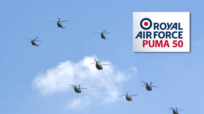 RAF Puma 50 flypast: Today's route, timings and where to watch the celebrations