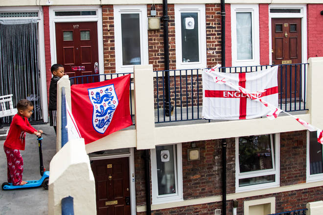 While this will be the first major England game some residents will remember, the flag tradition dates back to 2012.