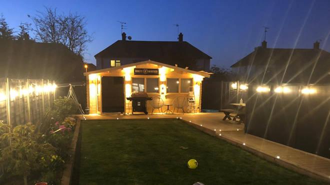 Dean built the pub in his garden during lockdown