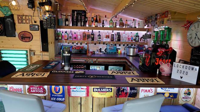The pub has a fully stocked bar