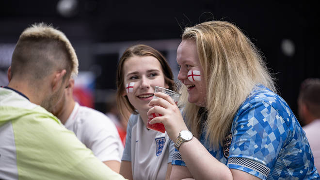 Build-up to the England vs Denmark game is already under way for many fans