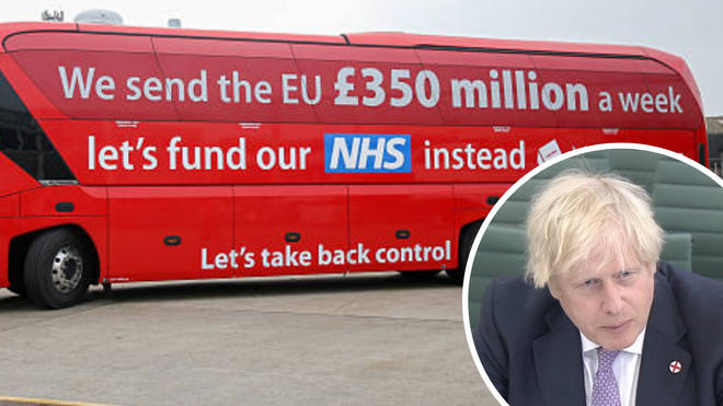 Boris Johnson claimed the figure on the side of the Brexit bus could now be much higher