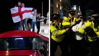The Metropolitan Police say they made 23 arrests following England's win over Denmark.