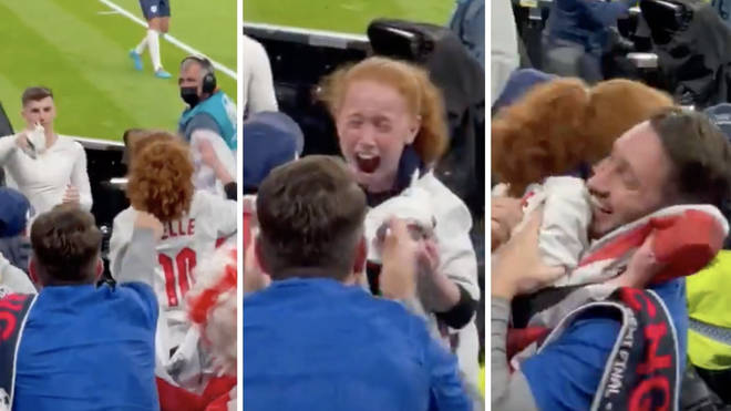 The little girl warmed the nations hearts as England celebrates getting into the Euro 2020 final