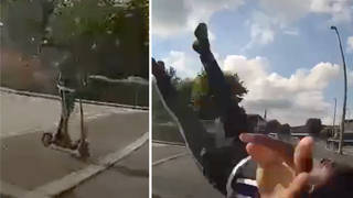 Police released the shocking footage as they warned E-Scooter users