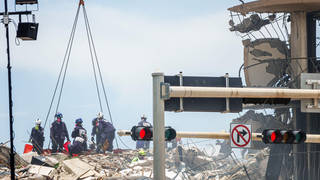 Emergency services have been searching the rubble for two weeks