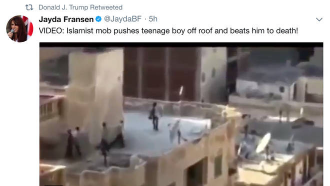 One of the videos retweeted by Donald Trump on Wednesday
