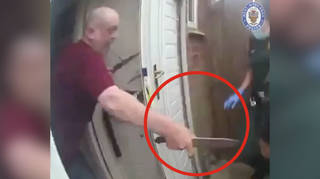 This is the terrifying moment just after the two paramedics were stabbed