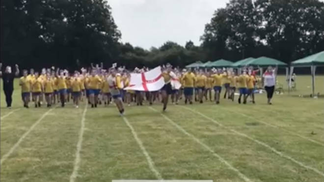 The school has organised a range of activities to celebrate England's success so far in the Euros