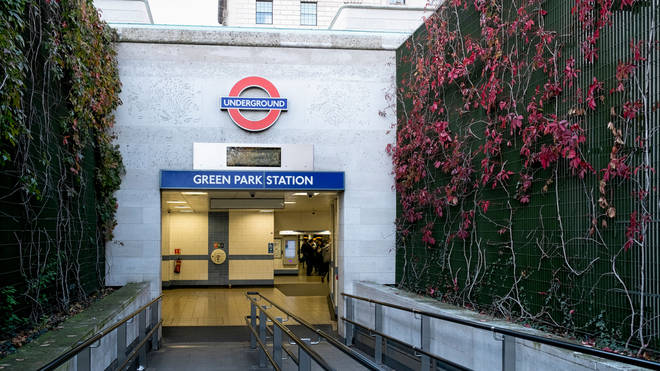 Green Park station was closed following reports of a stabbing on a Tube train