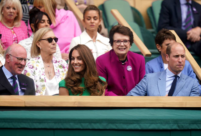 Kate and William watched the Wimbledon women's final today