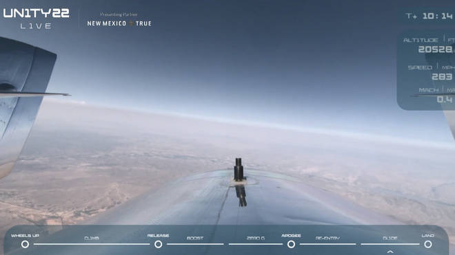 The aircraft had reached 40,000 feet by 4pm