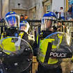 The Metropolitan Police said 45 arrests had been made as of 11:30pm on Sunday