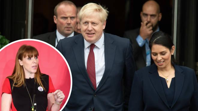 Angela Rayner has hit out at Boris Johnson and Priti Patel