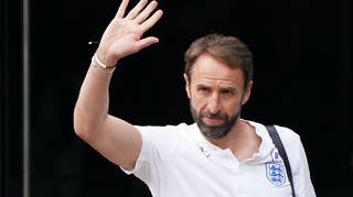 England manager Gareth Southgate leaves the Grove Hotel, Hertfordshire, on Monday