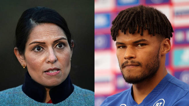 Tyrone Mings hit out at the home secretary over her response to racial abuse