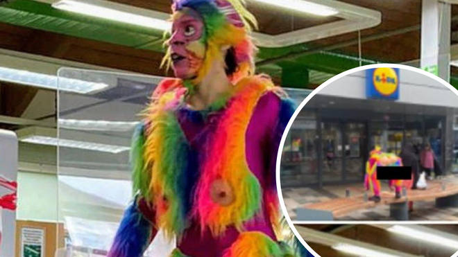 The rainbow coloured monkey has attracted criticism online