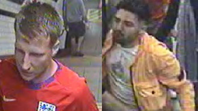 British Transport Police have released images of two men they believe may have information that could help in the investigation.