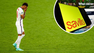 A Savills employee says his Twitter account was hacked to post racist abuse at England players after their Euro 2020 penalty shootout defeat.