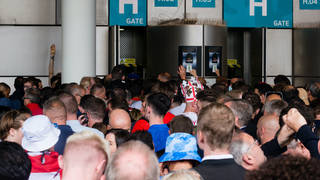 Football fans without the tickets managed to get through security checks at Wembley Stadium