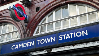 The police officer was assaulted at Camden Town station on Sunday