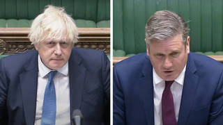 Sir Keir Starmer has accused Boris Johnson of being on the wrong side of a culture war