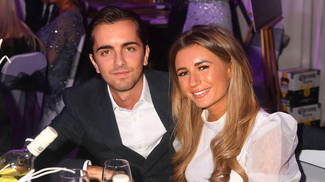 Sammy Kimmence (L) with Dani Dyer during the 2019 Paul Strank Charity Gala