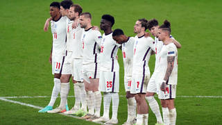England during the penalty shootout against Italy