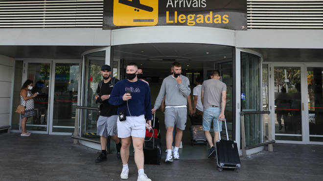 Brits arrive in Ibiza, which will be added to the amber list from Monday