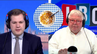 Nick Ferrari questioned the minister over the proposed sugar tax