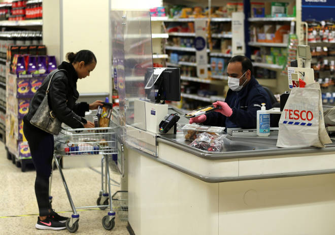 Plastic screens will remain at every checkout at Tesco.